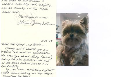 A thank you letter from a little dog named Rudy